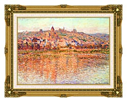 Claude Monet Vetheuil In Summertime canvas with museum ornate gold frame