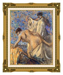 Edgar Degas After The Bath Pastel canvas with museum ornate gold frame