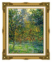 Claude Monet Under The Lemon Trees Bordighera canvas with museum ornate gold frame