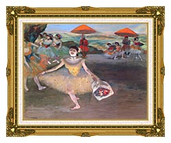 Edgar Degas Ballerina With A Bouquet Of Flowers canvas with museum ornate gold frame