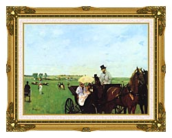 Edgar Degas Carriage At The Races canvas with museum ornate gold frame
