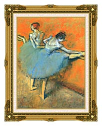 Edgar Degas Dancers At The Barre canvas with museum ornate gold frame