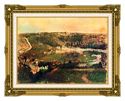 Edgar Degas Landscape canvas with museum ornate gold frame