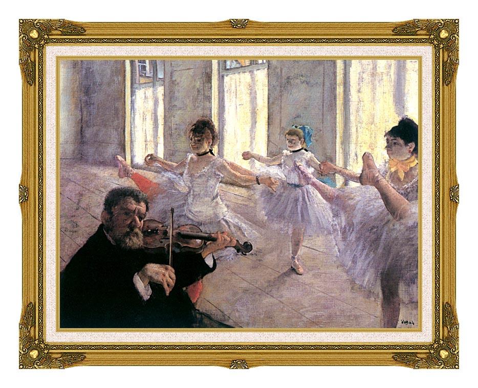 Edgar Degas Rehearsal with Museum Ornate Frame w/Liner