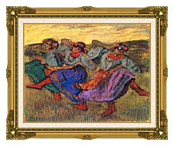 Edgar Degas Russian Dancers canvas with museum ornate gold frame
