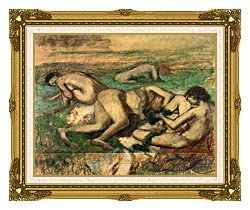 Edgar Degas The Bathers canvas with museum ornate gold frame