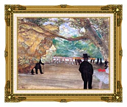 Edgar Degas The Curtain canvas with museum ornate gold frame