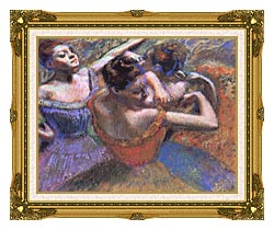 Edgar Degas The Dancers canvas with museum ornate gold frame