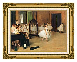 Edgar Degas The Dancing Class canvas with museum ornate gold frame