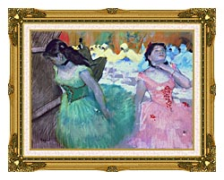 Edgar Degas The Entry Of The Masked Dancers canvas with museum ornate gold frame
