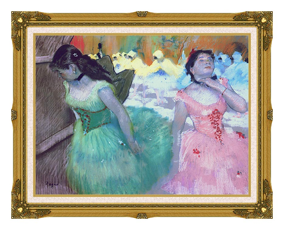 Edgar Degas The Entry of the Masked Dancers with Museum Ornate Frame w/Liner