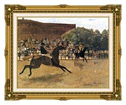 Edgar Degas The False Start canvas with museum ornate gold frame