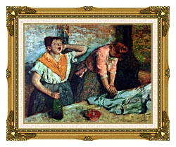 Edgar Degas The Laundresses canvas with museum ornate gold frame