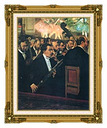 Edgar Degas The Orchestra Of The Opera canvas with museum ornate gold frame