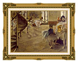 Edgar Degas The Rehearsal canvas with museum ornate gold frame