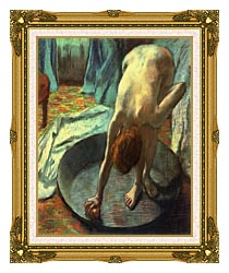 Edgar Degas The Tub Detail canvas with museum ornate gold frame