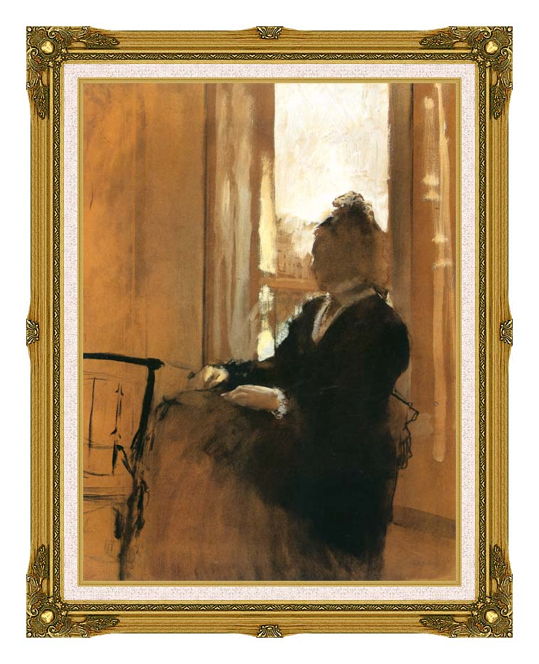 Edgar Degas Woman at a Window with Museum Ornate Frame w/Liner