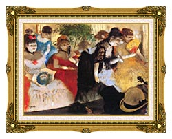 Edgar Degas Cafe Concert canvas with museum ornate gold frame