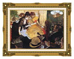 Edgar Degas Cafe Concert Right Detail canvas with museum ornate gold frame