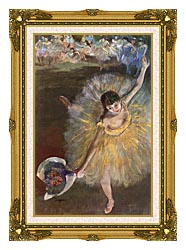 Edgar Degas Fin Darabesque canvas with museum ornate gold frame
