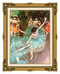 Edgar Degas The Green Dancer canvas with museum ornate gold frame