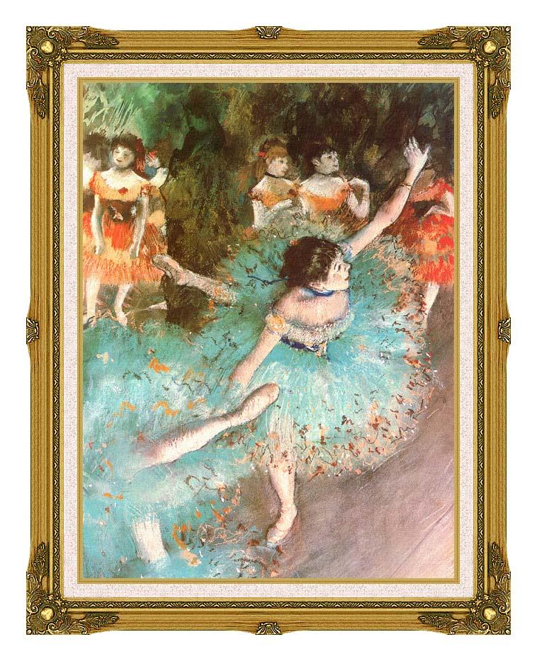 Edgar Degas The Green Dancer with Museum Ornate Frame w/Liner