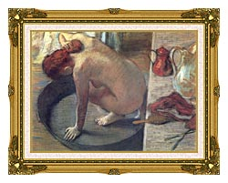 Edgar Degas Degas The Tub canvas with museum ornate gold frame