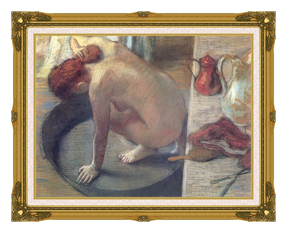 Edgar Degas Degas The Tub with Museum Ornate Frame w/Liner
