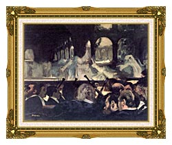 Edgar Degas Ballet Scene From Robert The Devil canvas with museum ornate gold frame