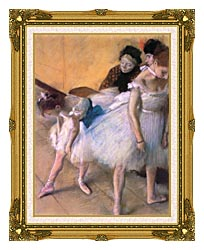 Edgar Degas Before The Rehearsal canvas with museum ornate gold frame