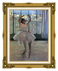 Edgar Degas Dancer Posing For A Photographer   Dancer Before A Window canvas with museum ornate gold frame