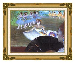 Edgar Degas Dancer With A Bouquet canvas with museum ornate gold frame