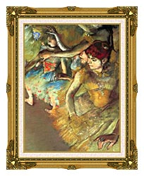 Edgar Degas Dancers canvas with museum ornate gold frame