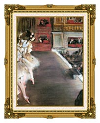 Edgar Degas Dancers At The Old Opera House canvas with museum ornate gold frame