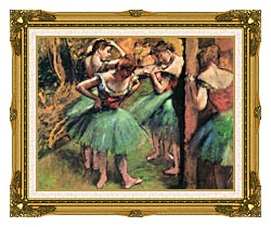 Edgar Degas Dancers Pink And Green canvas with museum ornate gold frame