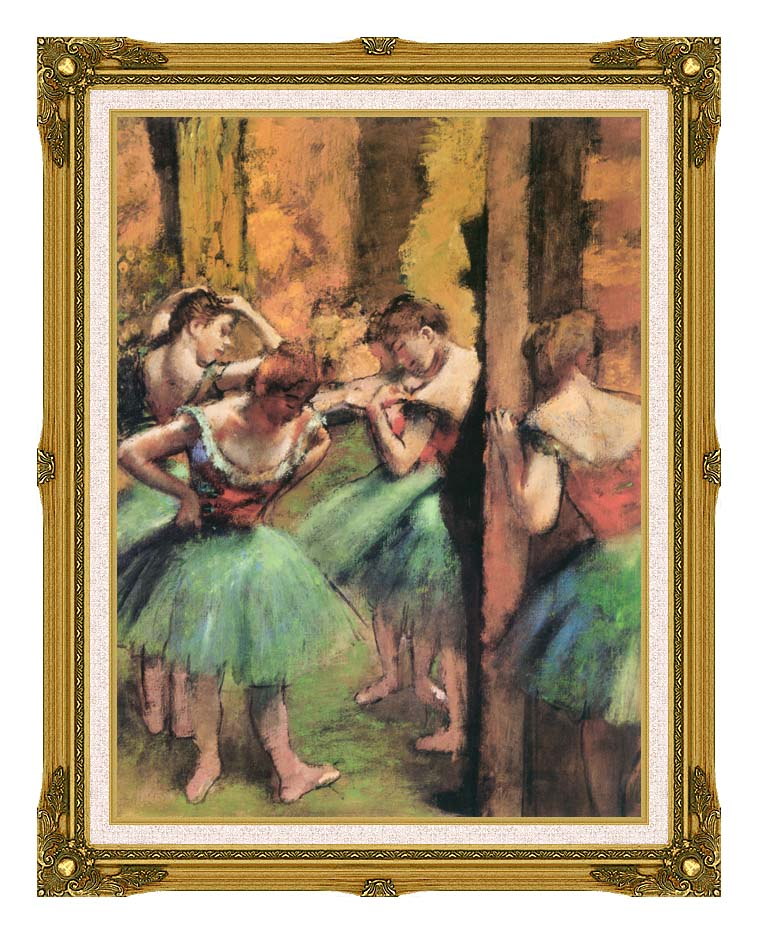 Edgar Degas Dancers in Pink and Green with Museum Ornate Frame w/Liner
