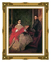 Edgar Degas Edmondo And Therese Morbilli canvas with museum ornate gold frame