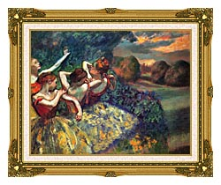 Edgar Degas Four Dancers canvas with museum ornate gold frame