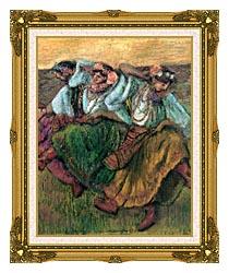 Edgar Degas Les Danseuses Russes canvas with museum ornate gold frame