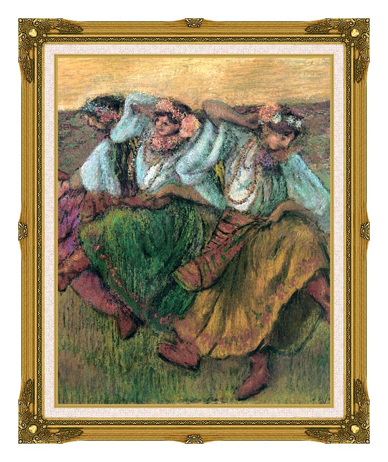 Edgar Degas Les Danseuses Russes with Museum Ornate Frame w/Liner