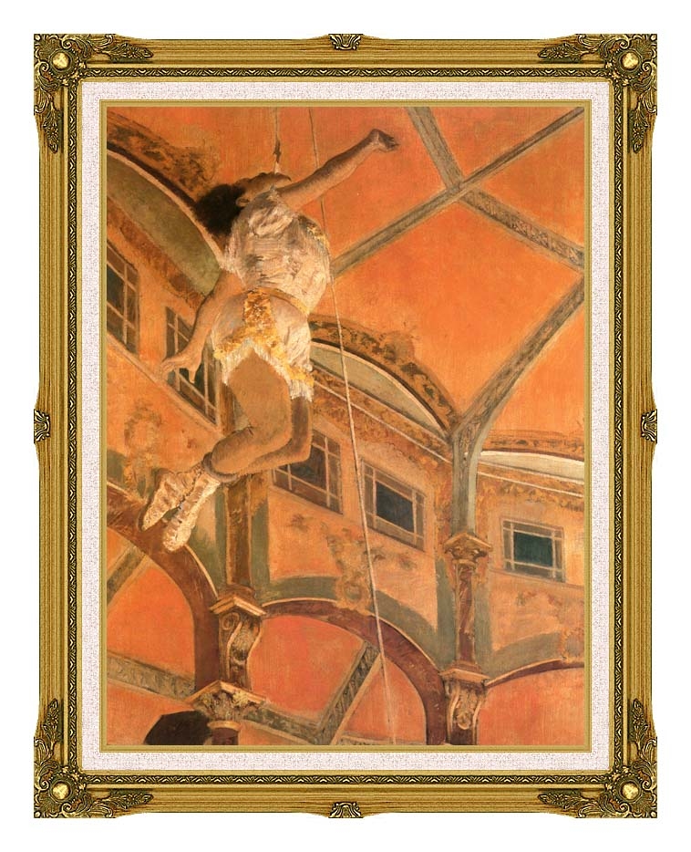 Edgar Degas Miss Lala at Cirque Fernando with Museum Ornate Frame w/Liner