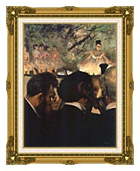 Edgar Degas Musicians In The Orchestra canvas with museum ornate gold frame