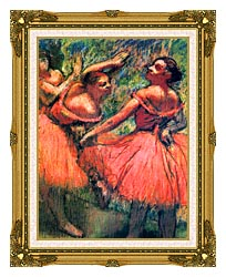 Edgar Degas Red Skirts canvas with museum ornate gold frame