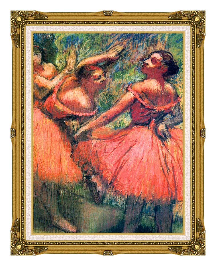 Edgar Degas Red Skirts with Museum Ornate Frame w/Liner