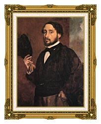 Edgar Degas Edgar Degas Self Portrait canvas with museum ornate gold frame