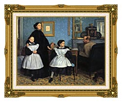 Edgar Degas The Bellelli Family canvas with museum ornate gold frame