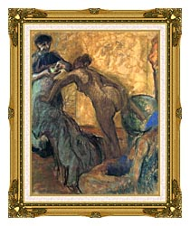 Edgar Degas The Cup Of Chocolate canvas with museum ornate gold frame