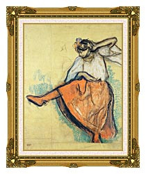 Edgar Degas The Russian Dancer canvas with museum ornate gold frame