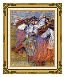 Edgar Degas The Russian Dancers canvas with museum ornate gold frame