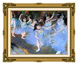 Edgar Degas The Star Dancers Detail canvas with museum ornate gold frame